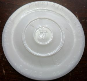 Boyd's Genuine Porcelain-Lined Cap - Milkglass Jar Liners