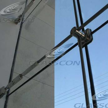 cable net spider glass facade