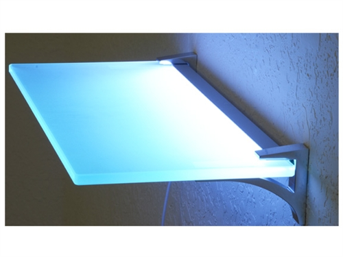 LED Lighted Glass Shelves