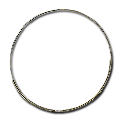 18'' Brass Rim: Glass Crafters Stained Glass