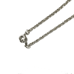 24'' Fine Rope Chain, Silver Imitation Rhodium: Glass