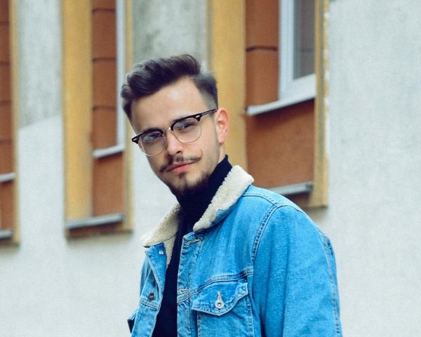 Man wearing glasses image