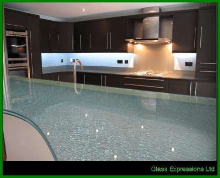 glass work tops