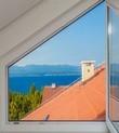 fenêtre trapèze double vitrage pvc sur mesure