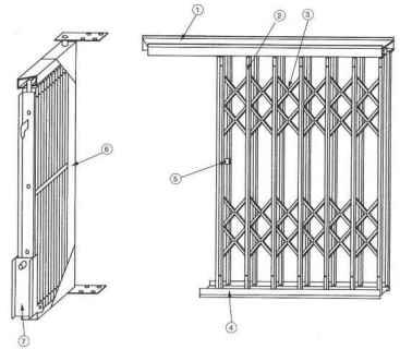 schema technique grille extensible acier