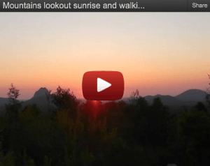Glass Houser Mountains Sunrise