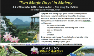 Open Days at Maleny Botanic Gardens
