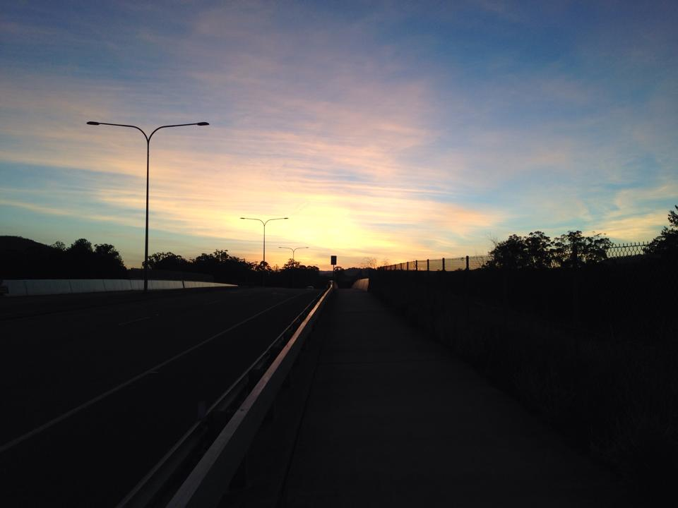Sunset from Nev Anning Bridge 02