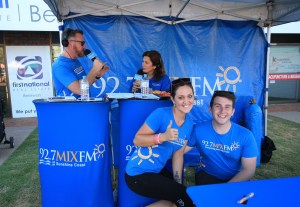 The 92.7 MIX FM Tent at the Beerwah Street Party October 2014 (All 200 Beerwah Street Party and Celebration Photos 2014)