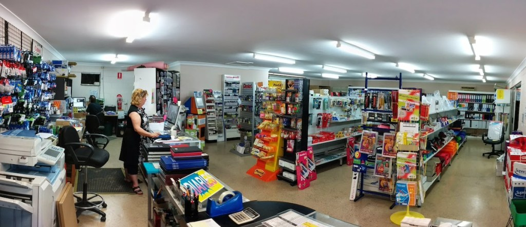 Inside the Beerwah Print and Stationery Store in Beewah 2014