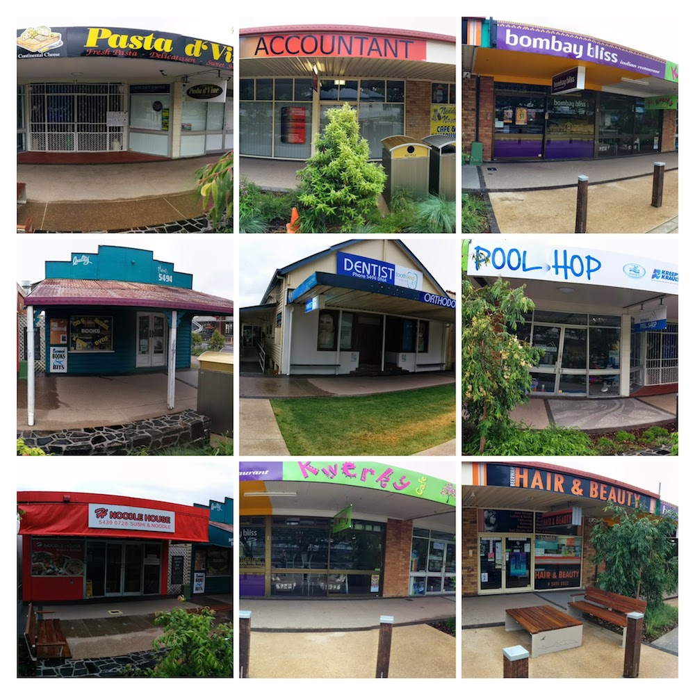 An Array of Beerwah Shop Fronts 2014