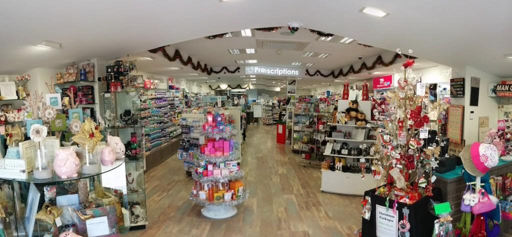 Inside Mooloolah Valley Pharmacy PANO 20141115