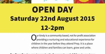 Beerwah Kindy Open Day 22nd August between 12 and 2pm