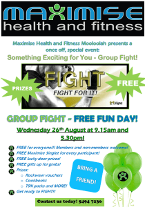 FREE FUN DAY! with Maximise Health and Fitness