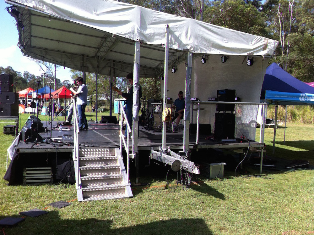 A Side View of the Moofest Stage