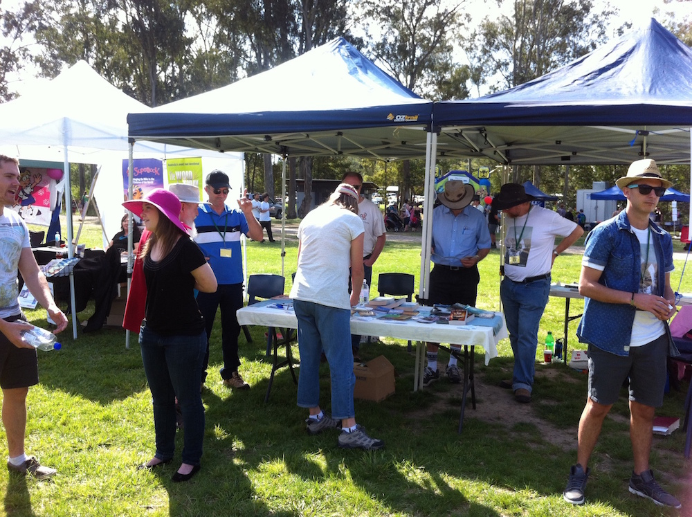 The Got Questions Tent at MooFEST in Mooloolah 2015