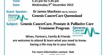 Prostate Cancer Support Group: You never know whose life you may save