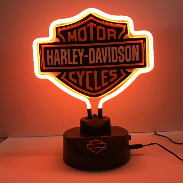 Harley Davidson Shield Neon Light Glass House Store