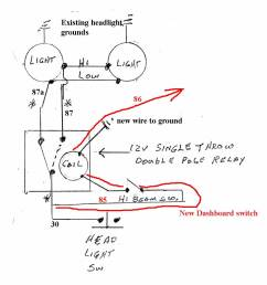 glassic model a replica information single headlight schematic click image for larger view [ 1000 x 1054 Pixel ]