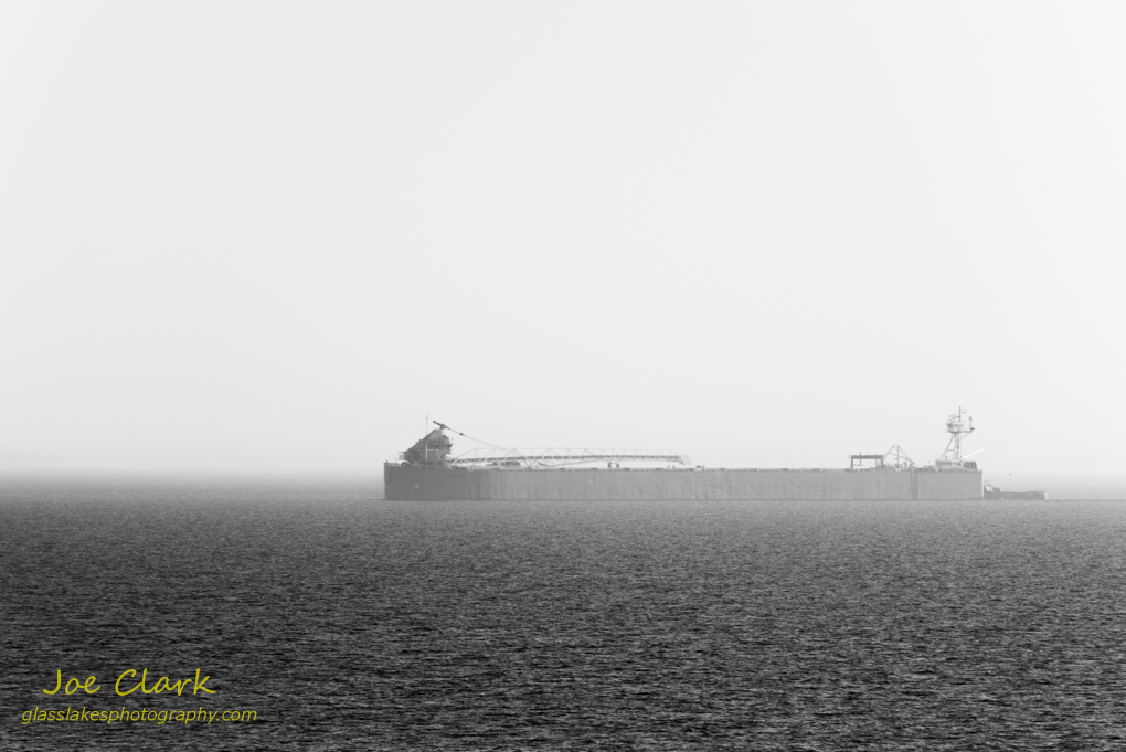 Hazy Freighter by Joe Clark www.glasslakesphotography.com