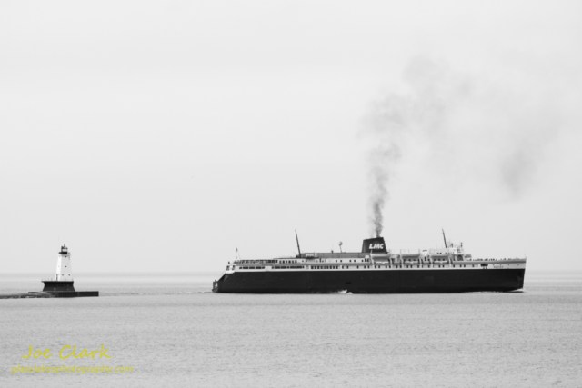 S.S. Badger Leaves port on the first day of summer.  By Joe Clark www.glasslakesphotography.com