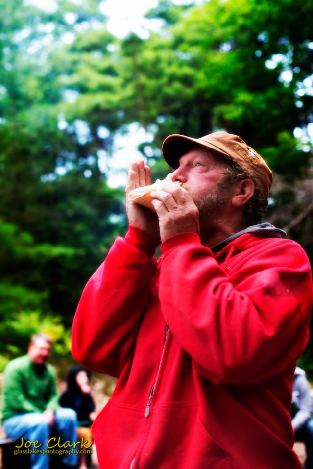 Norm Wheeler starts the bards with his conk shell by Joe Clark www.glasslakesphotography.com