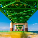 northern michigan photographer Joe Clark, Mackinaw bridge springtime