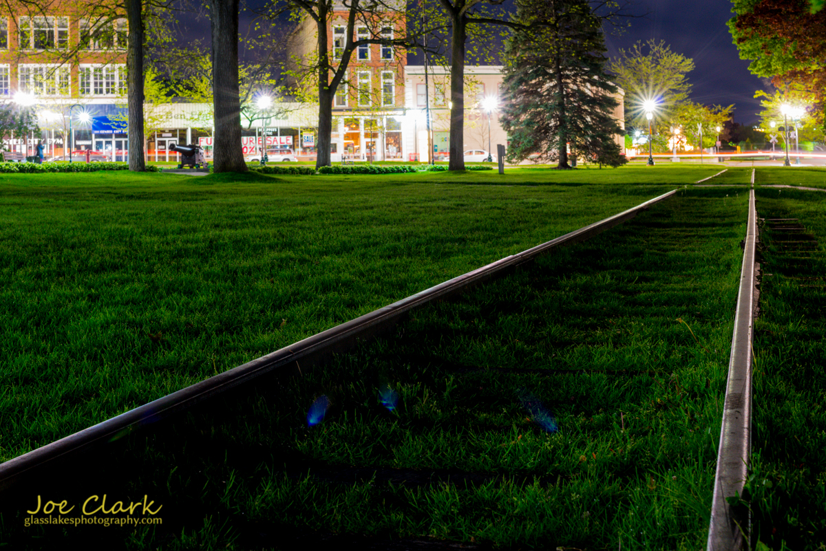 Downtown Petoskey park scenery railroad tracks photogrpher Joe Clark