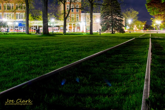 Downtown Petoskey park scenery railroad tracks photogrpher Joe Clark