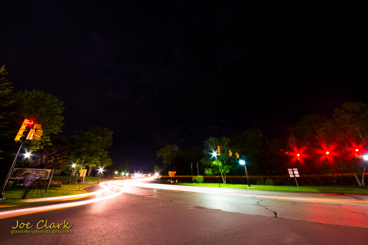 US-31 at night petoskey photographer Joe Clark