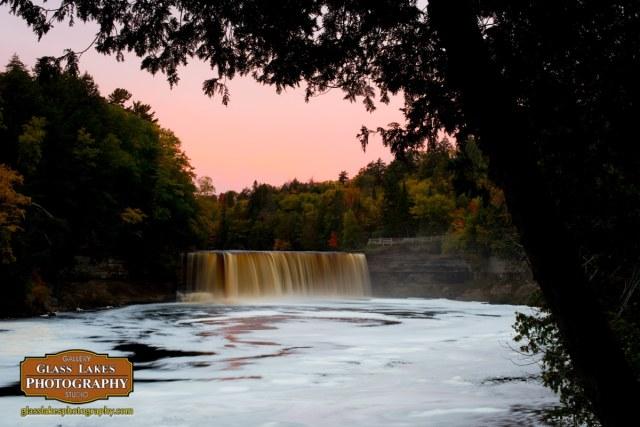 Morning light upper tehquamanon falls