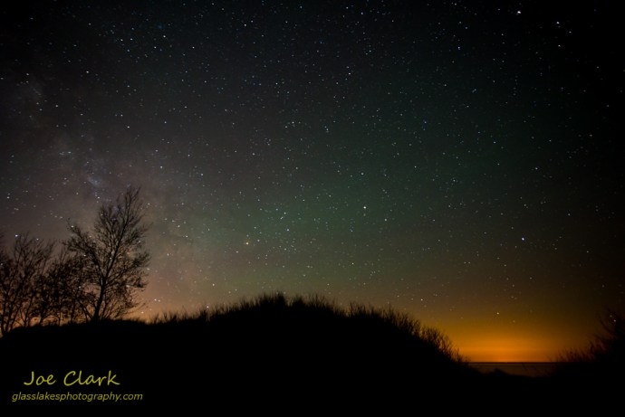 Stars over Ludington State Park. By Joe Clark.