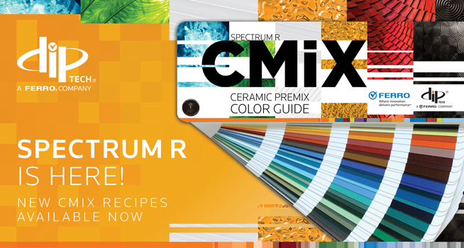 Dip-Tech glass printing introduces a new Spectrum R CMiX Color Guide