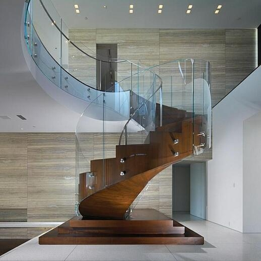 Curved Glass Handrail