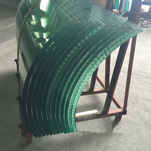 2152mm clear curved toughened laminated glass 2152mm