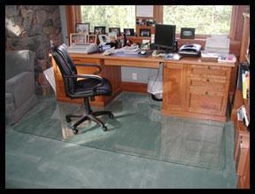 Custom Chair Mats Glass Custom Floor Mats