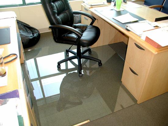 desk chair glass mat wicker parsons chairs glassmats office mats photos