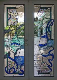 Custom stained glass windows and doors, homes and office
