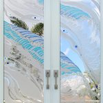 Etched Glass Windows Sandblasted Glass Panels For Doors Shower
