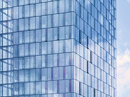 Modern glass faades air conditioning and energy