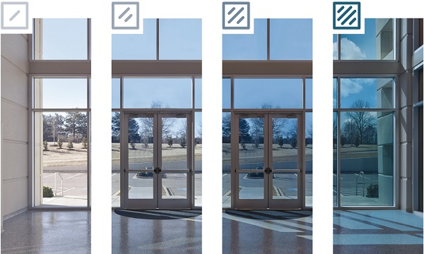 Depending upon the intensity of the sunlight, the intelligent façade glass SILVERSTAR DYNAMIC adjusts by lightening or darkening the panes.