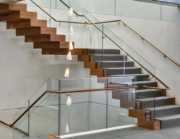 Floating Spiral Staircase With Glass Railing Increases Natural | Floating Stairs With Glass Railing | Duplex Balcony | Combination Glass | Glass Balustrade | Crystal Handrail | Innovative Glass