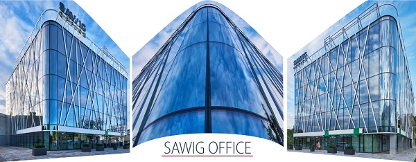 Sawig Office – office building with bent glass