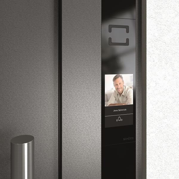 Picture credits: Schüco International KG The DCS (Door Control System) Touch Display is installed flush in the door profile and combines all door communication and access control functions.