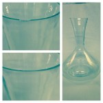 Before and after picture of a Carafe repair