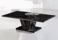Hera Black Marble V Leg Coffee table