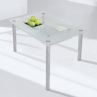 Dining Table: Dining Table Frosted Glass