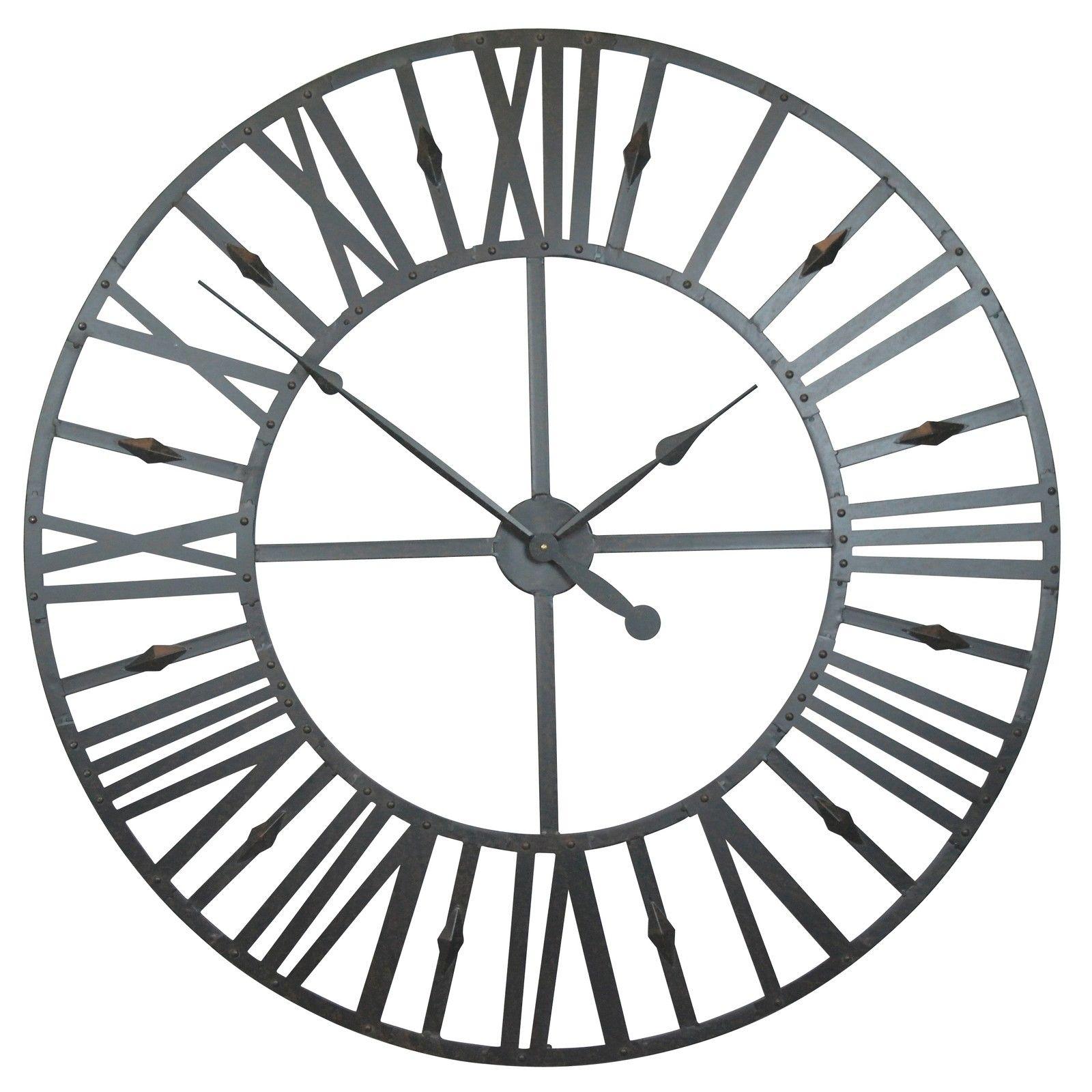 Rustic Large 110cm Metal Wall Clock