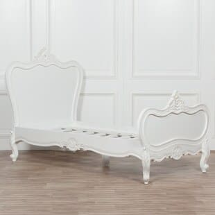French Chateau Wooden Mahogany White Painted 3ft Single Bed
