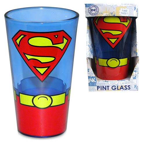 On glass printed with a superman